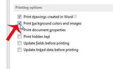 Как напечатать цвет фона в Word 2013