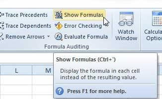 Как печатать формулы в Excel 2010